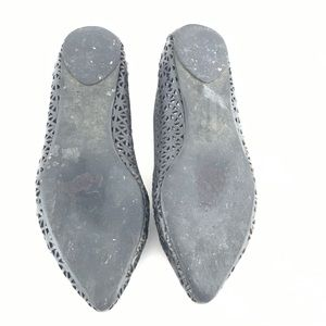Joe's Jeans Shoes - Joe's Jeans Black Leather Flats Laser Cut Shoe K